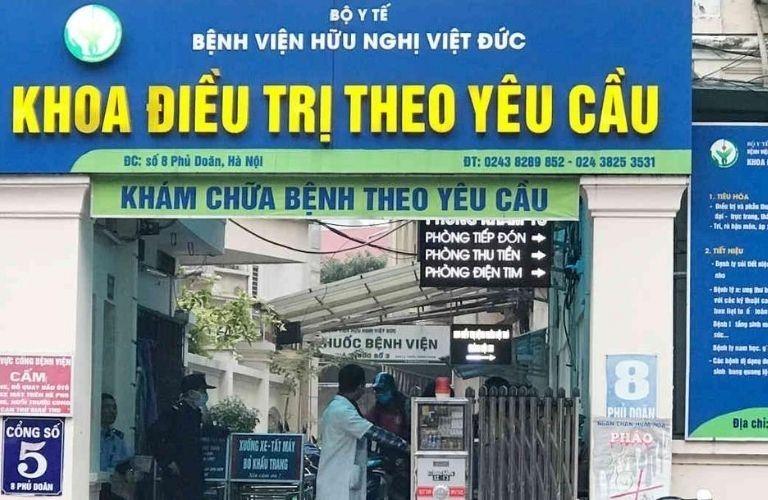 Bệnh viện Hữu nghị Việt Đức - địa chỉ chữa xuất tinh sớm ở Hà Nội tốt nhất