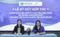 Lễ ký kết hợp tác giữa Bệnh viện Favina và Bệnh viện YHCT Quân Dân 102