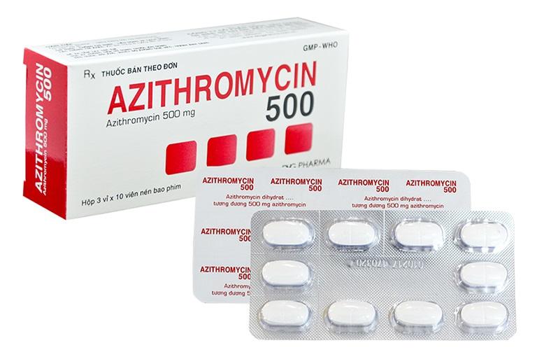 Azithromycin là thuốc kháng sinh thuộc nhóm macrolid