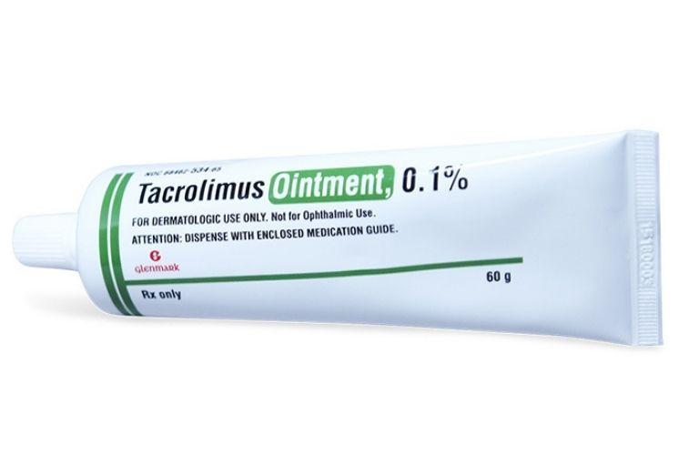 Tacrolimus được sử dụng trong điều trị sớm viêm da cơ địa, viêm da dị ứng,...