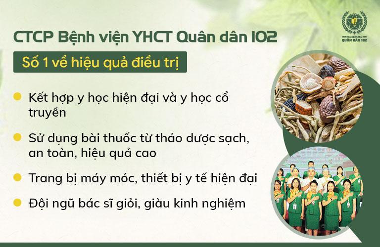 CTCP Bệnh viện YHCT Quân dân 102 ứng dụng Đông Y có biện chứng, đem lại hiệu quả điều trị số 1