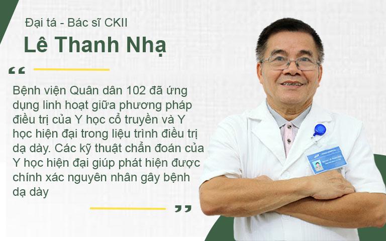 Đại tá - Bác sĩ CKII, Lê Thanh Nhạ