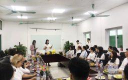 Lễ tiếp nhận sinh viên kiến tập tại Quân dân 102