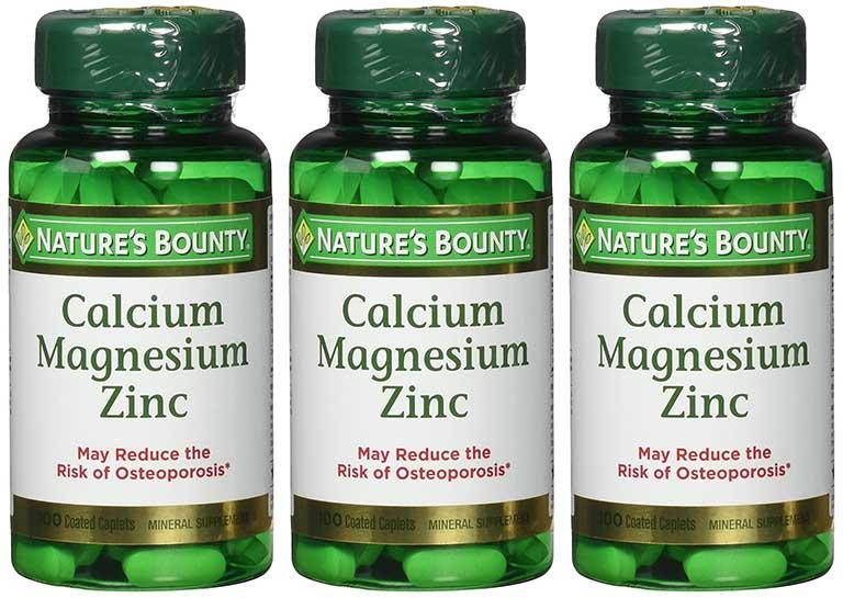 Thuốc viêm khớp của mỹ Nature's Bounty Calcium Magnesium Zinc