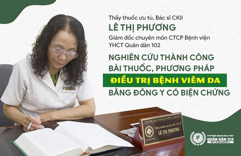 Bác sĩ Lê Phương là người trực tiếp điều trị bệnh viêm da cho NSƯT Thanh Hiền