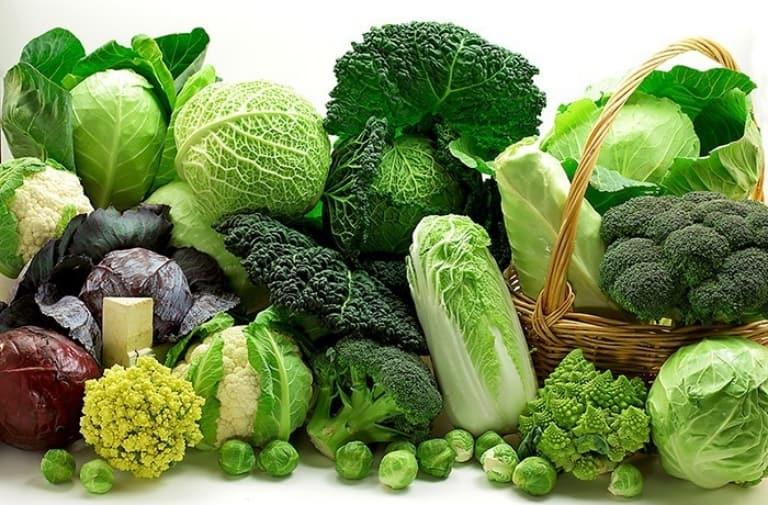 Các loại rau xanh như súp lơ, rau cải rất tốt cho bệnh nhân về xương khớp