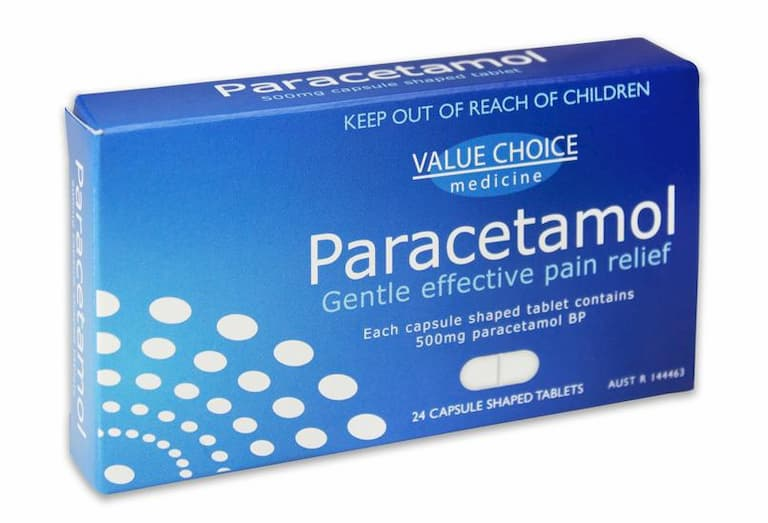 Thuốc giảm đau như paracetamol giúp người bệnh dễ chịu hơn