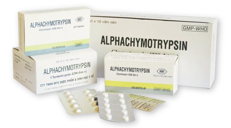 Alphachymotrypsin được biết đến là thuốc thuộc nhóm kháng viêm