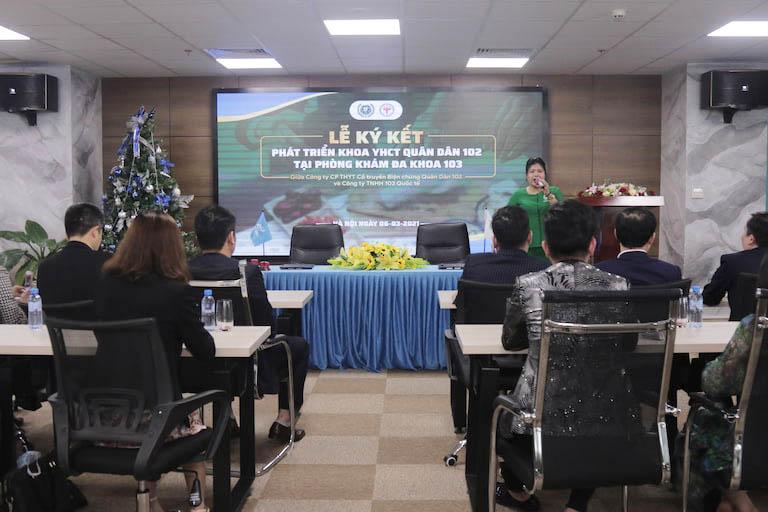 Lễ ký kết phát triển khoa YHCT Quân Dân 102 tại Cẩm Khê, Phú Thọ