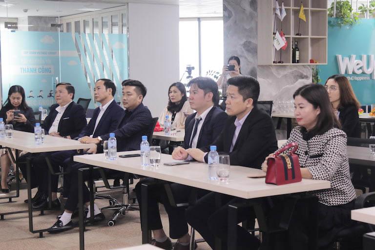 Buổi lễ có sự góp mặt của ban lãnh đạo đại diện hai đơn vị hợp tác