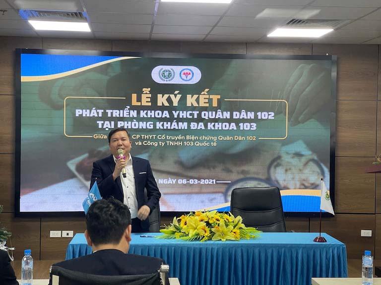 Tiến sĩ, Bác sĩ Lê Quốc Tuấn - Đại diện Phòng khám Đa khoa 103