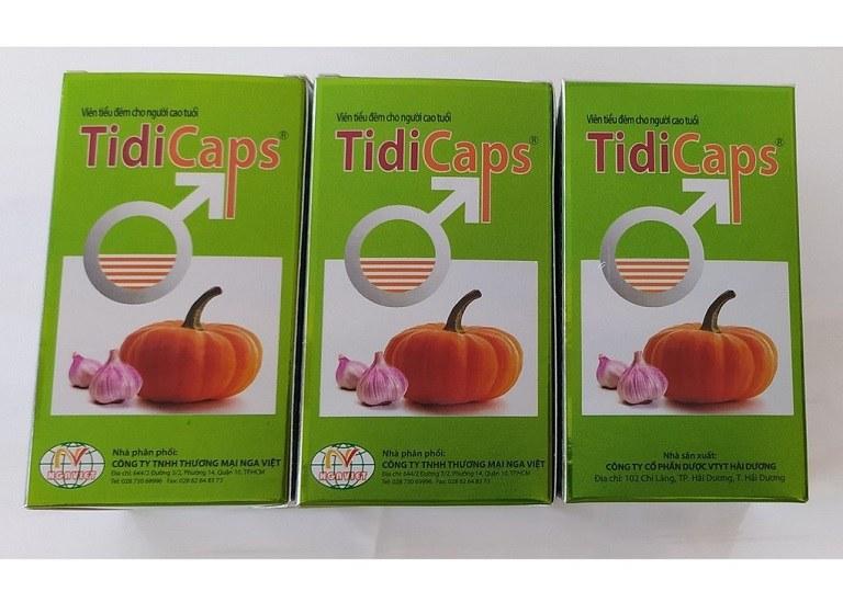 Tidicaps giúp phòng ngừa phì đại tuyến tiền liệt, khắc phục tình trạng tiểu khó, tiểu đêm