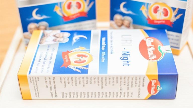 Thuốc trị tiểu đêm nhiều lần ở người già Uri Night giúp tăng sức chứa bàng quang, giảm viêm, bổ thận