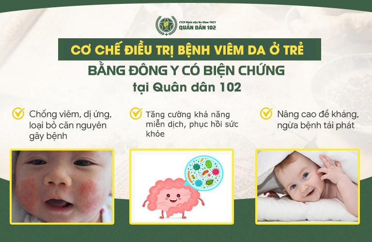 Liệu trình điều trị được tiến hành theo các giai đoạn nhằm loại bỏ bệnh viêm da liên cầu ở trẻ triệt để từ gốc đến ngọn