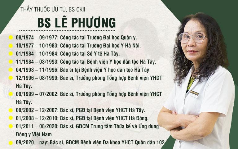 BS Lê Phương có hơn 40 năm kinh nghiệm trong khám, chữa bệnh bằng y học cổ truyền