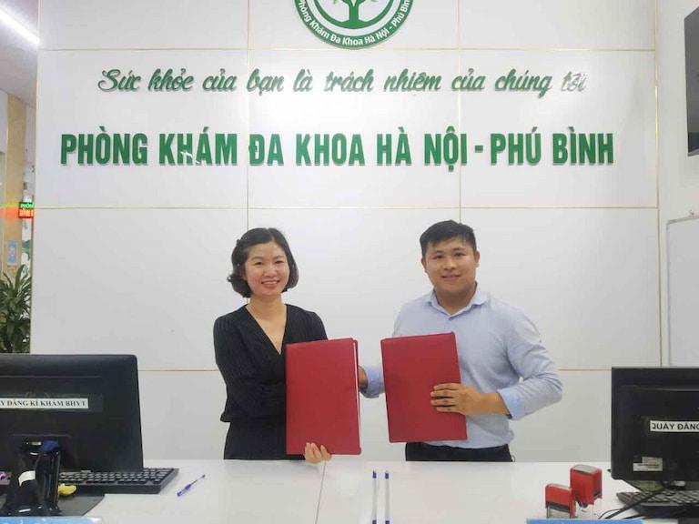 Sự kiện ký kết thành lập chuyên khoa y học cổ truyền Quân Dân 102 tại Phòng khám Đa khoa Hà Nội - Phú Bình (Thái Nguyên)