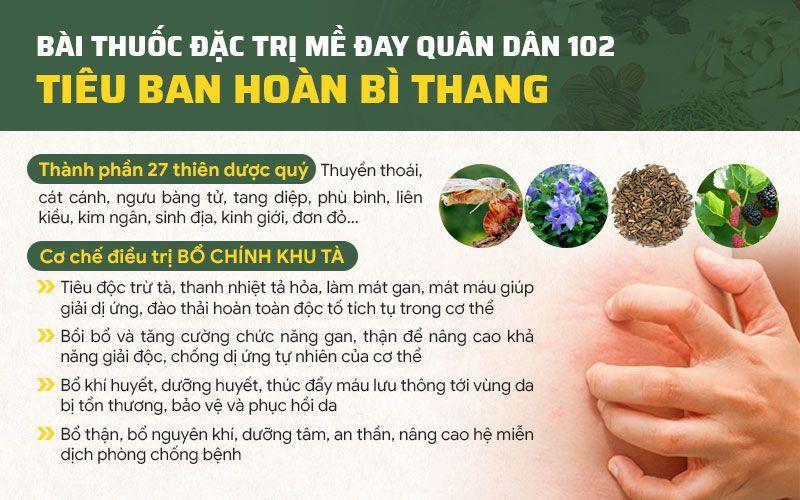Bác sĩ Lê Phương sáng chế nên bài thuốc đặc trị mề đay, mẩn đỏ hiệu quả