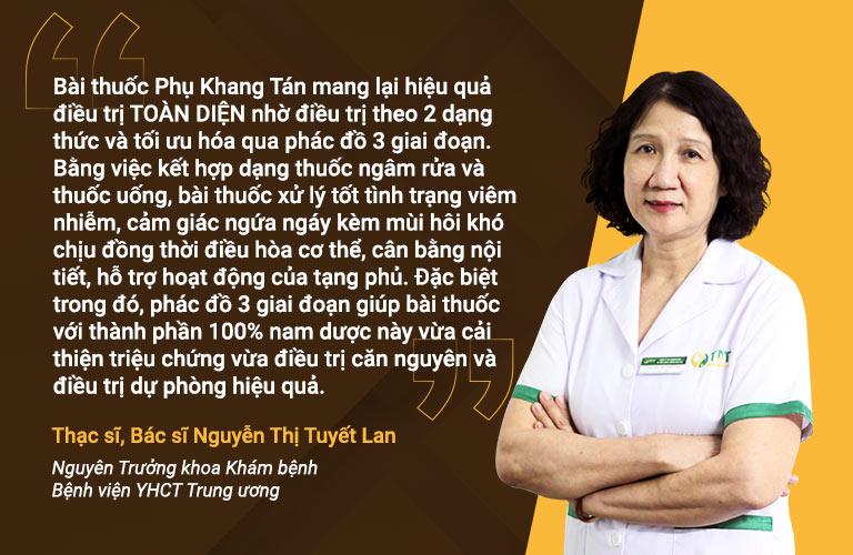 Bác sĩ Tuyết Lan đánh giá về phác đồ Phụ Khang Tán