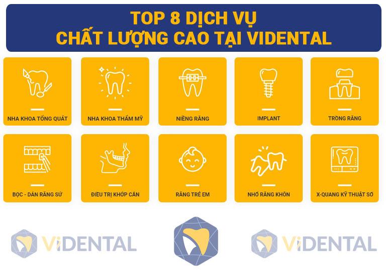 Dịch vụ nha khoa tại Vidental