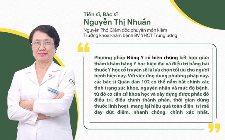 Bác sĩ Nhuần đánh giá cao phác đồ trị mề đay Quân dân 102