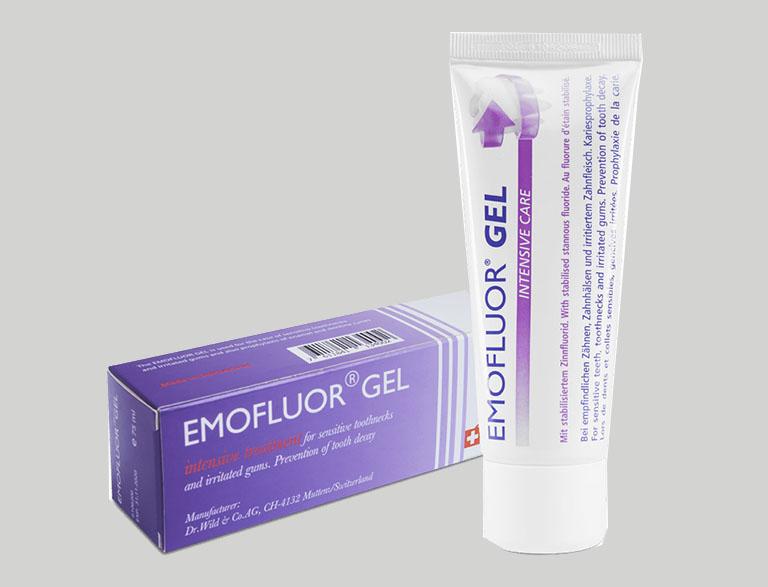 Emofluor Gel là thuốc trị viêm nha chu dạng bôi có nguồn gốc Thụy Sỹ
