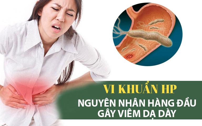 Vi khuẩn HP - Nguyên nhân hàng đầu gây viêm loét dạ dày