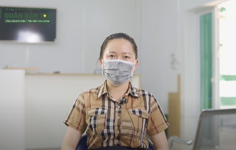Chị Nguyễn Thu Hồng chia sẻ về hiệu quả chữa viêm mũi xoang tại Quân dân 102